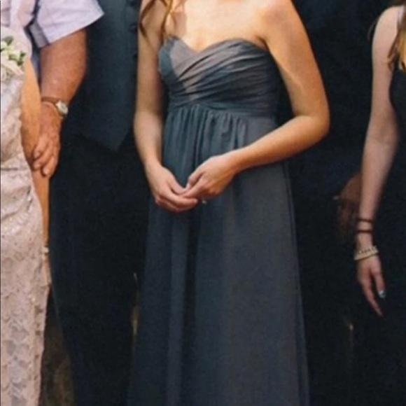 f381af343513 David's Bridal Dresses | Davids Bridal Grey Pewter Sweetheart Maxi ...